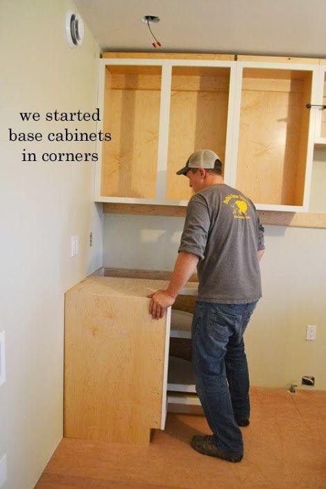 Superieur Installing Kitchen Cabinets   Momplex Vanilla Kitchen | Ana White  Woodworking Projects | Base Cabinets | Pinterest | Installing Kitchen  Cabinets, ...