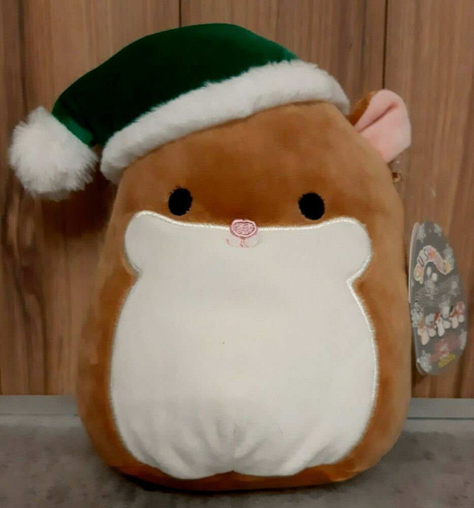 Kellytoy Squishmallow Humphrey The Hamster Christmas Hat Winter Collection 8 Kellytoy Winter Collection Christmas Hat Hamster