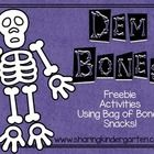 These activities are designed to use the Cheetos Bag of Bones snacks.  They come in stores around Halloween.  This pack was also a Facebook fan req...