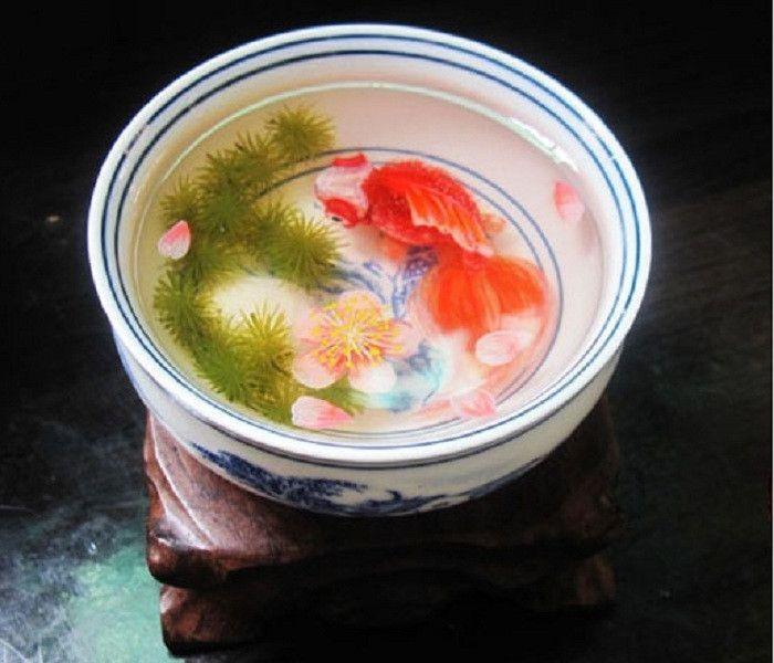 RP D Goldfish Painting In Resin Water Inspired By Riusuke - Incredible 3d goldfish drawings using resin