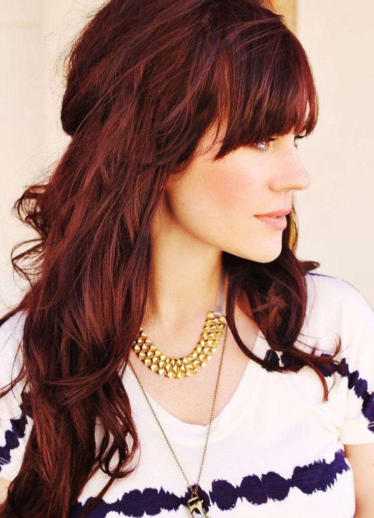 Medium Length Dark Red Hairstyles tips and trik