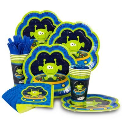 Space Alien Standard Kit Serves 8 Guests - http://1stbirthdaypartytheme.com/space-alien-standard-kit-serves-8-guests.html