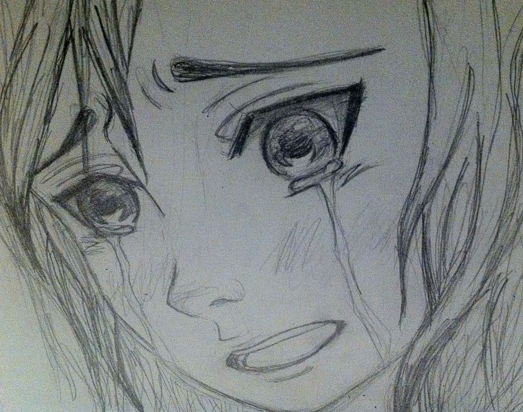 drawing of a anime girl crying face - Google Search | Art ...