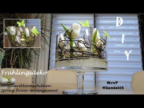 Fruhlingsdeko 2018 Tulpen Im Glas Mit Bambus Tulpendeko