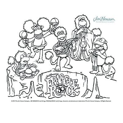 Fraggle Rock Coloring Pages Cartoon Coloring Pages Coloring