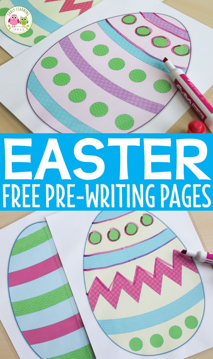Easter Egg Pre-Writing Practice Pages | Preschool math, literacy ...