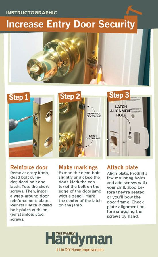 Diy Tutorial How To Reinforce Your Entry Door To Increase Home