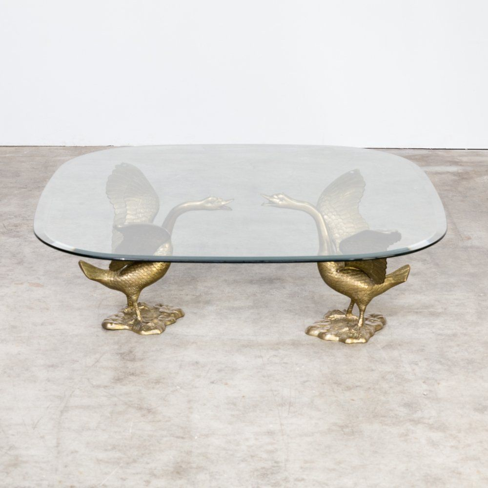 For Sale 70s Sculptural Goose Coffee Table With Glass Table Top Glass Top Table Glass Table Coffee Table