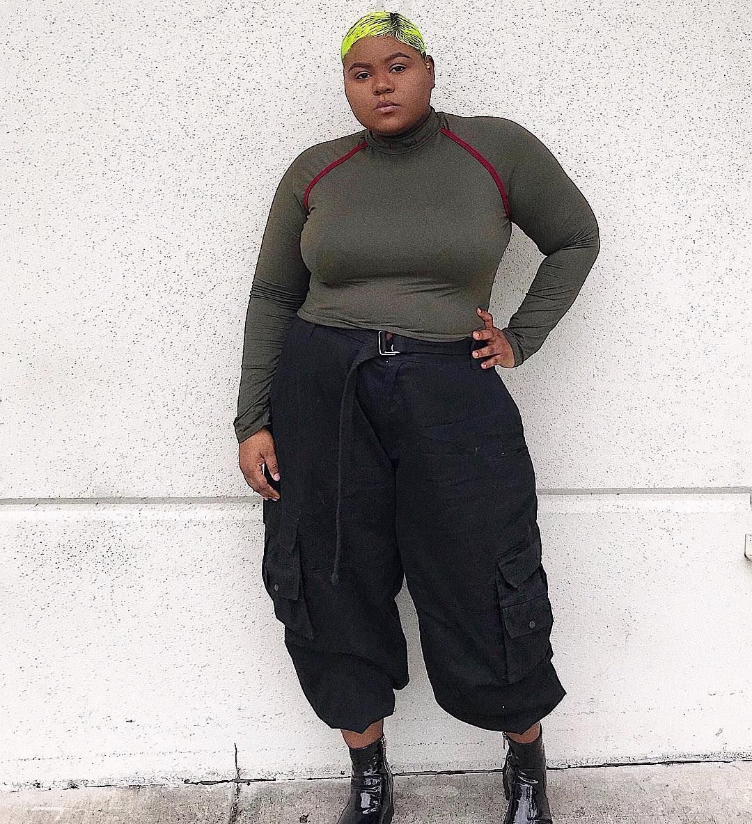 Ig User Hantisedeloubli Models A Fashion Nova Curve Top With Thrifted Mens Cargo Pants