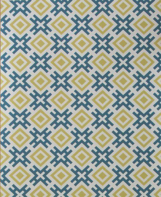 Hicksonian Wallpaper A printed wallpaper designed by David Hicks ...