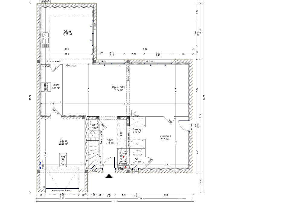 Plan achat maison neuve à construire - Constructions Idéale Demeure PERCENEIGE C2G-122 | Plan ...