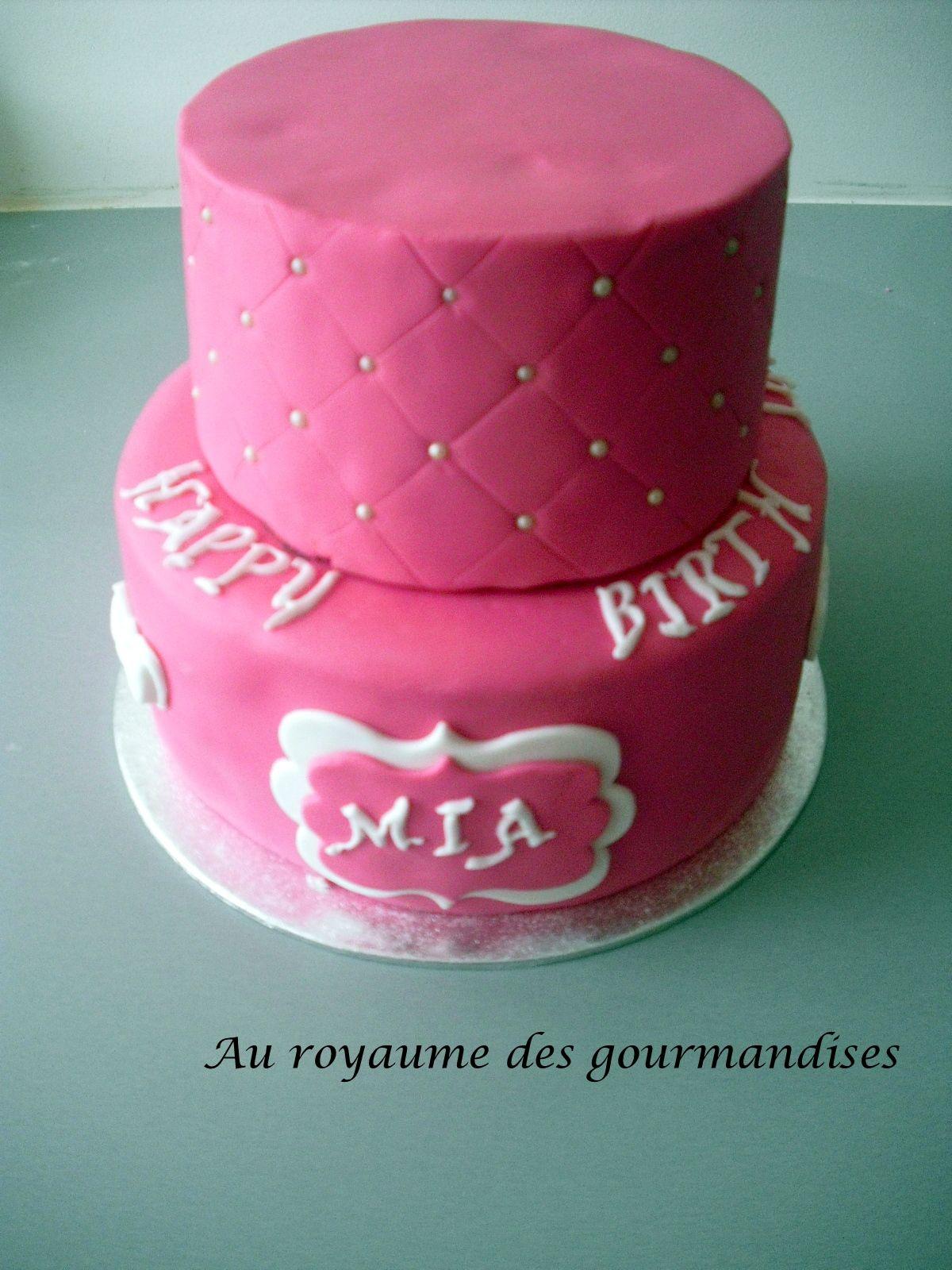 Gâteau d\u0027anniversaire fille