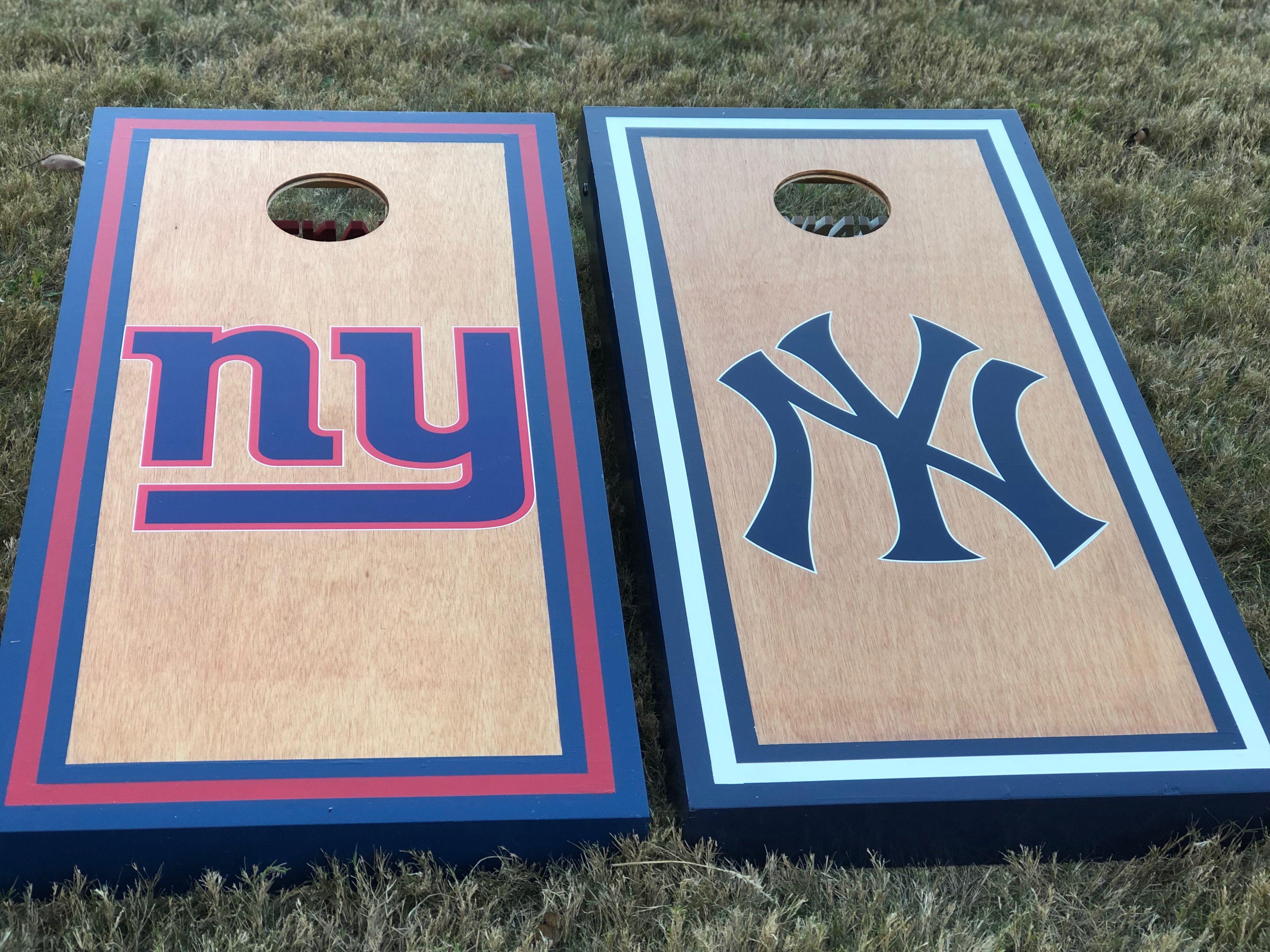 New York Giants New York Yankees Corn Hole Set Cornhole Set New York Giants Cornhole
