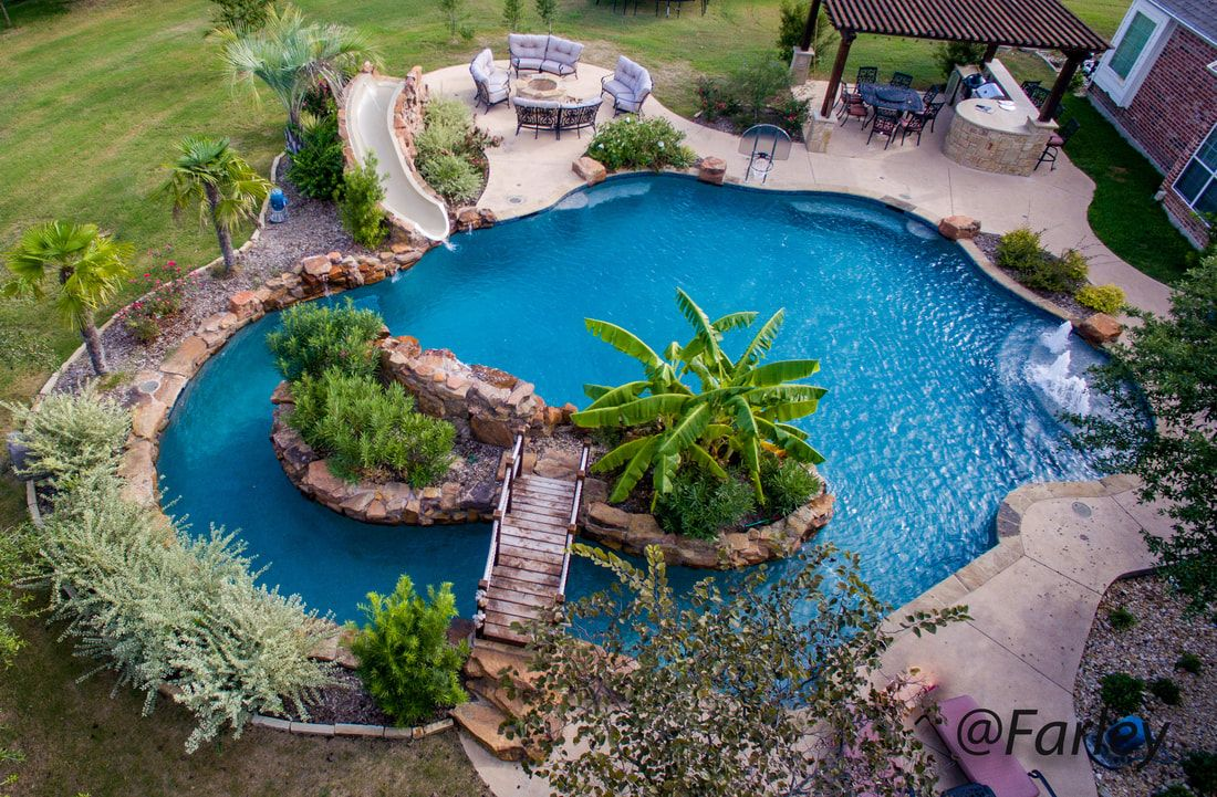 Fairview Residential Lazy River pool by Farley Pool ...