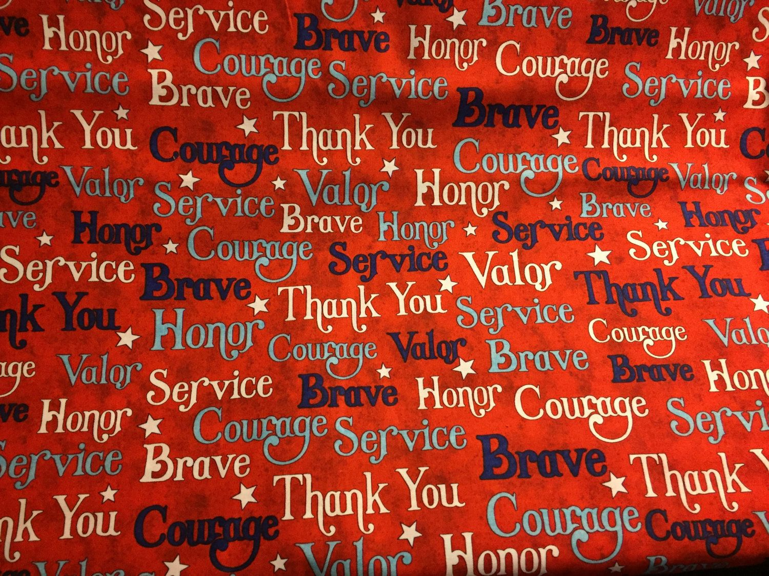Jim Shore Words of Valor 100% cotton fabric sold by the yard - Americana Theme - Quilt of Valor quilt fabric by pmscrafts on Etsy