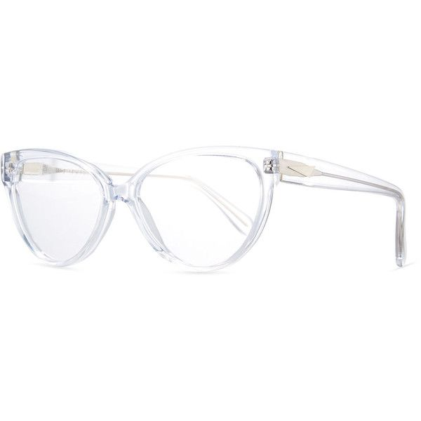6766aa7b8f7 Prism Cannes Cat-Eye Optical Frames ( 270) ❤ liked on Polyvore featuring  accessories