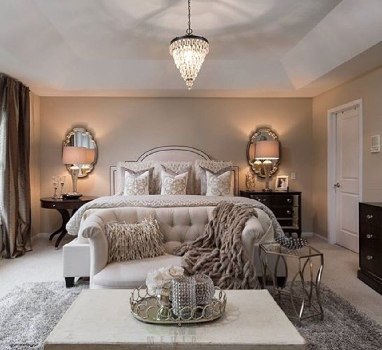 LOVE calming sophisticated slightly more masculine Master bedroom ...