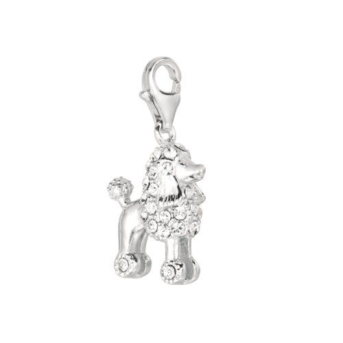 b5f54dbe8 Amazon.com: 925 Sterling Silver Poodle Dog Charm W/crystal, For Chamilia,  Pandora, Biagi, Personality, Reflections And More Charm Bracelets: Jewelry