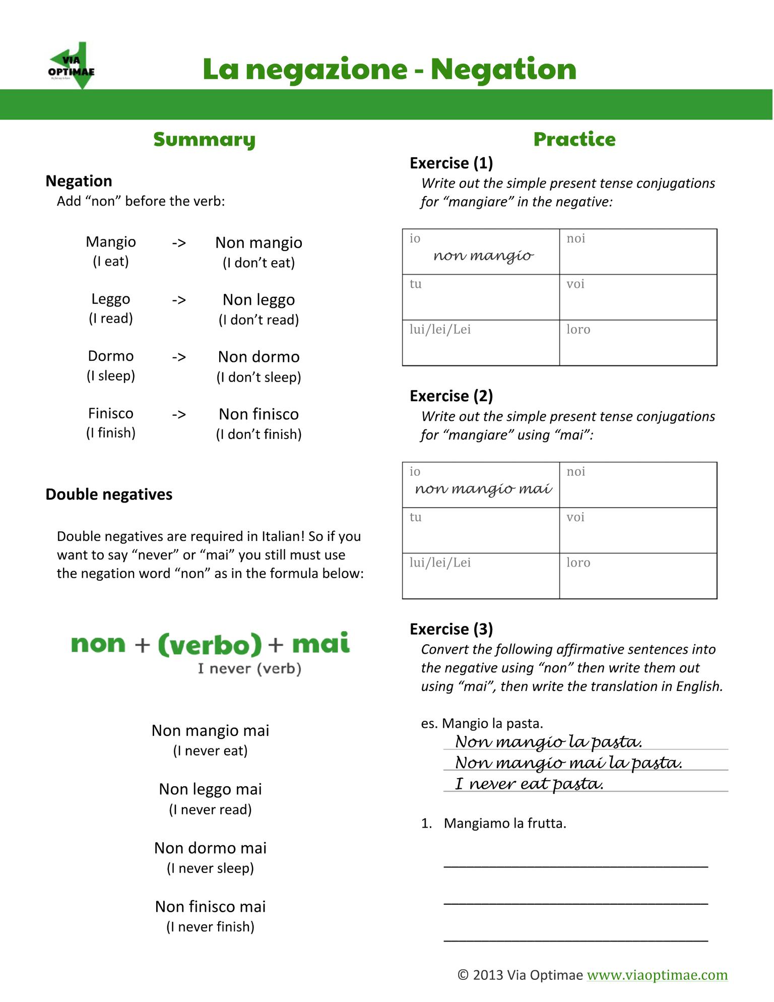 Italian Workbooks Beginner S Workbook Part One With