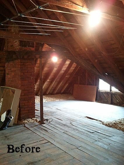 Old Victorian Attic Before 2 Visit Blog To See The Entire Redo Awesome