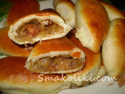 Пирожки с капустой и копченостями печеные. Пошаговый рецепт с фото на Smakoliki