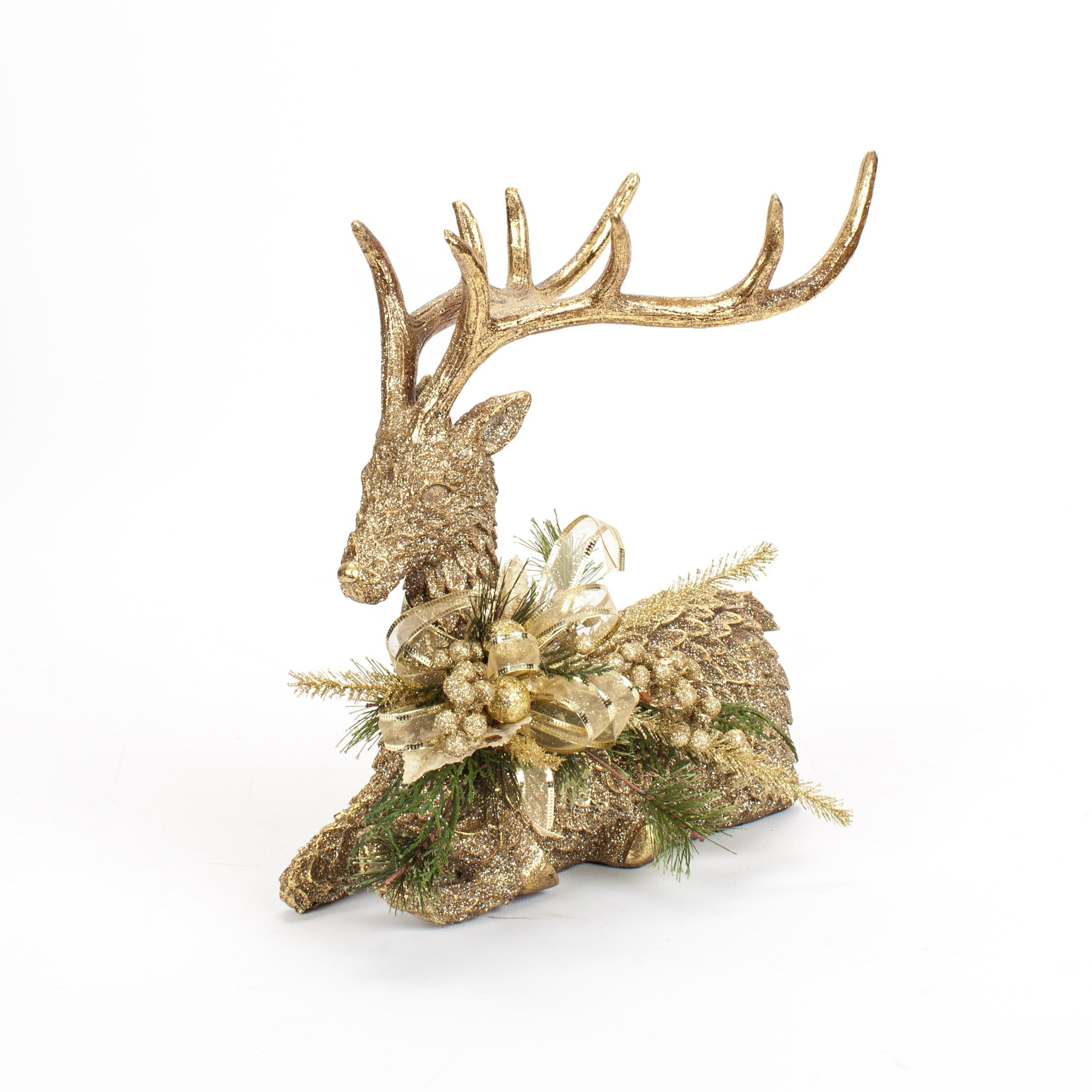 Champagne Christmas decorated deer