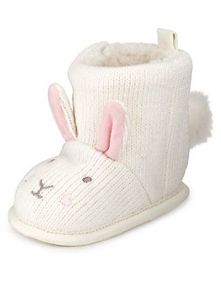 Bunny Knitted Boots   M\u0026S   Baby shoe