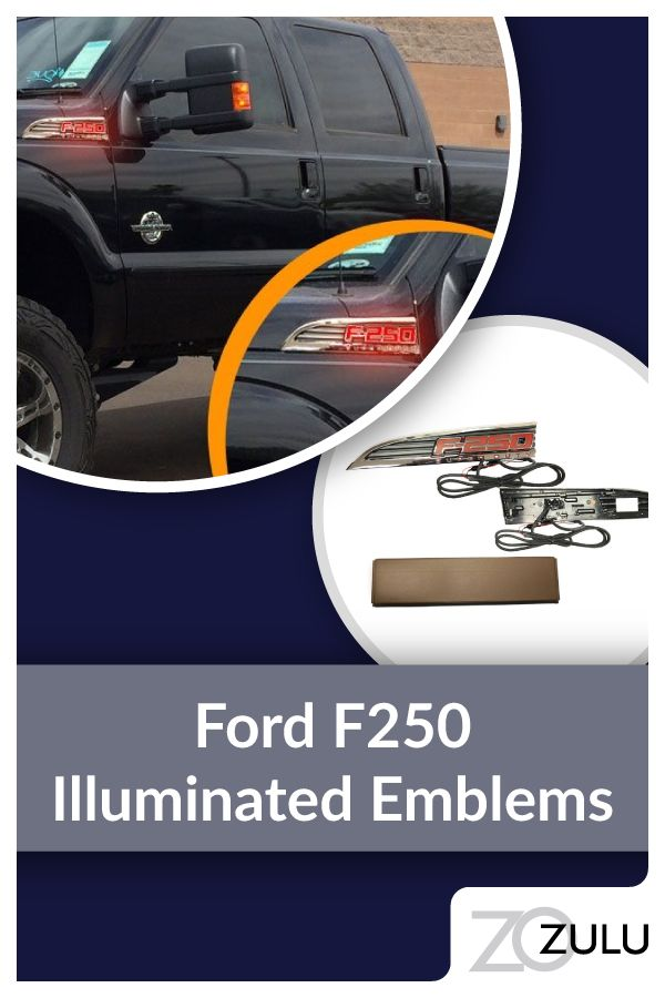 The Illuminated emblems give your rig snazzy great looks while boosting your vehicle's road prese