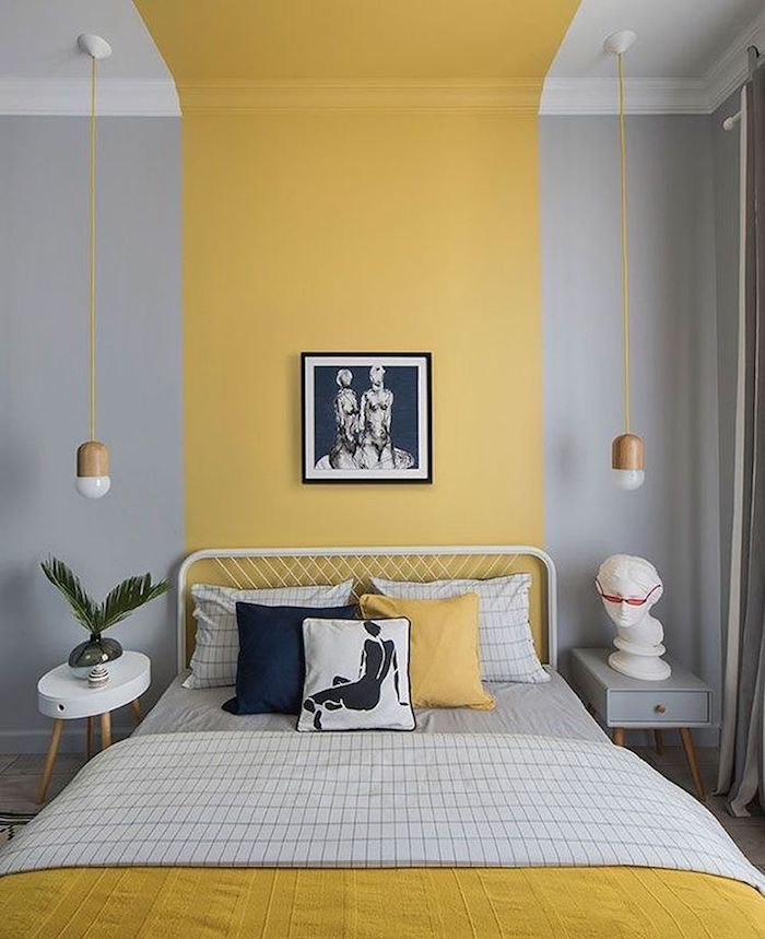 1001 id es pour peindre une chambre en deux couleurs - Peindre une chambre mansardee en 2 couleurs ...