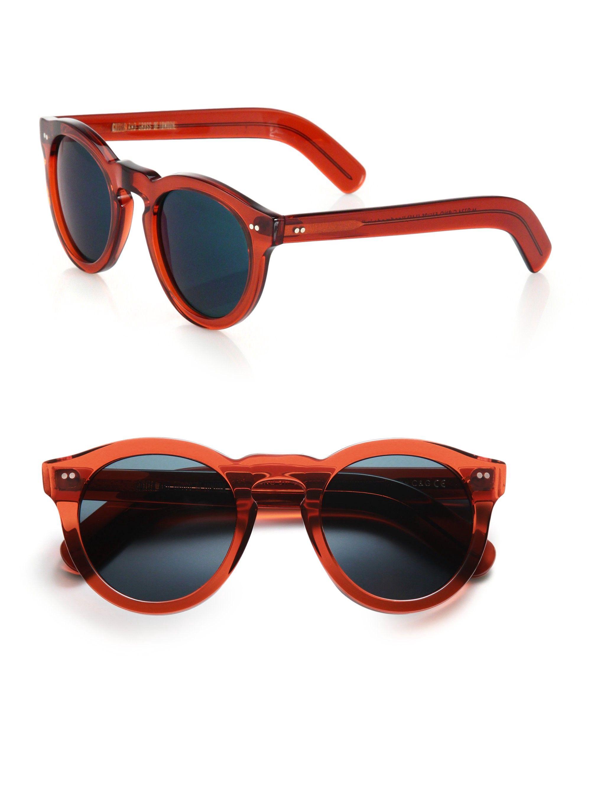 034e6f7ece1 Cutler And Gross Classic 51Mm Round Sunglasses - Bright Orange One ...