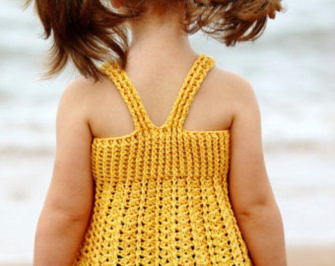 Rosa ganchillo toddler top Boho verano festival flecos chicas top coloridos niñ...