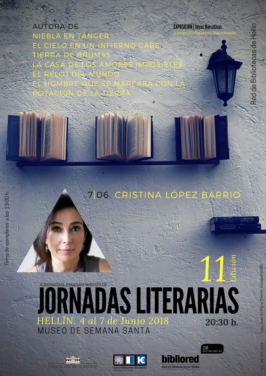 Jornadas Literarias 2018 Cartel Cristina López Barrio Reloj Del Mundo Bruma Jornada