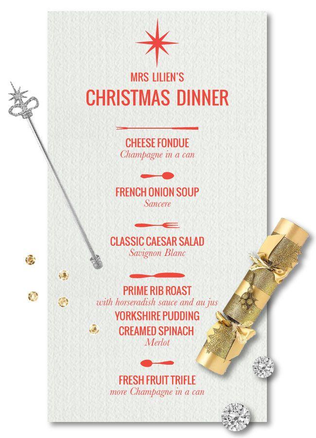 Mrs lilien 39 s christmas dinner menu mrs things pinterest christmas dinner menu menu and - Christmas menu pinterest ...