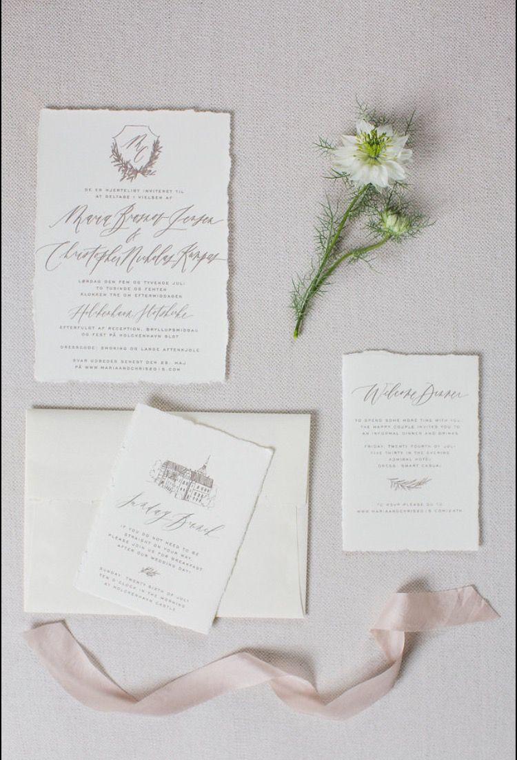 Taupe wedding invitations // organic olive branch invitations ...