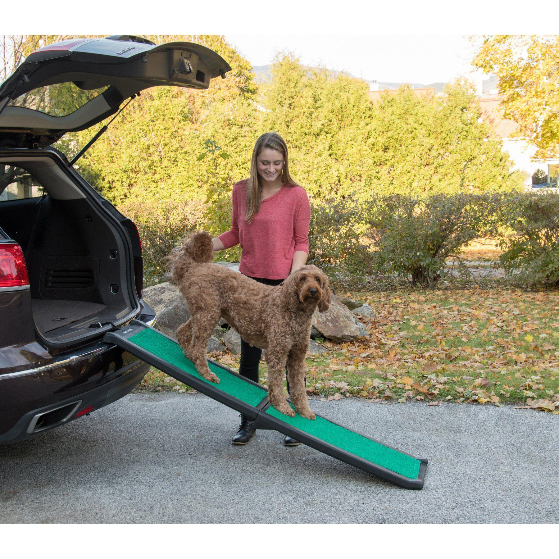 Pet Gear Bi-Fold Pet Ramp with SupertraX - PG9166GRSX