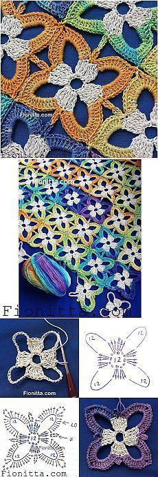 Motif de fleurs, tricot, nouvelles les plus populaires gratuitement sur Onlain … #belie …   – Tücher