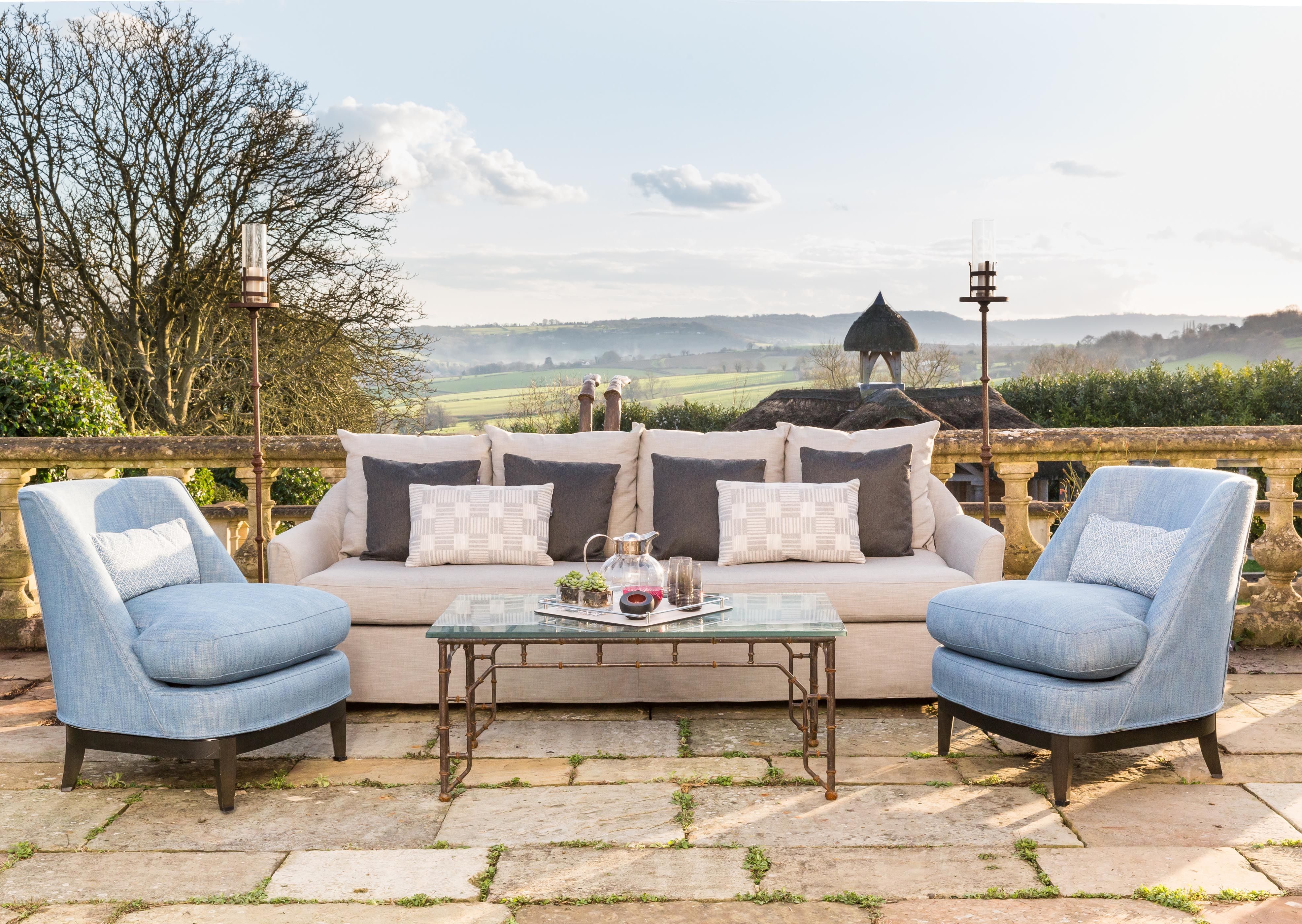 Ordinaire Coco Wolf Luxury Outdoor Furniture Chairs With Cushions. Outdoor Sofa With  Layered Cushions Add Colour