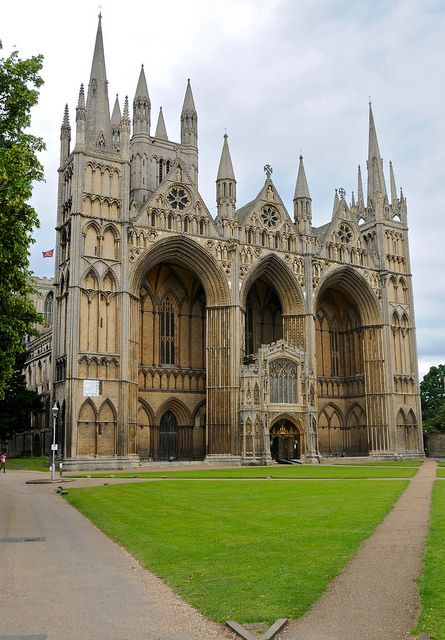 Peterborough Cathedral, the burial place of Henry 8ths 1st wife Katherine of Aragon and also the remains of Mary Queen of Scots