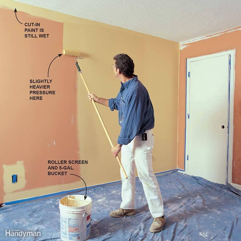 Use This Pro Wall Painting Technique | How to | Pinterest | Wall ...