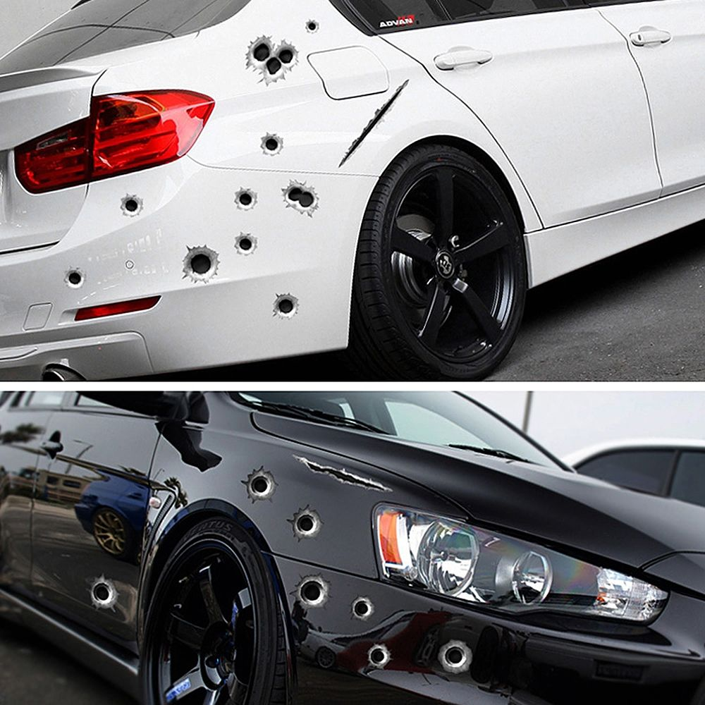 3d bullet hole funny decals sticker car auto motorcycle styling decoration price 6 16 free worldwide shipping womensclothing womensfashion fashion