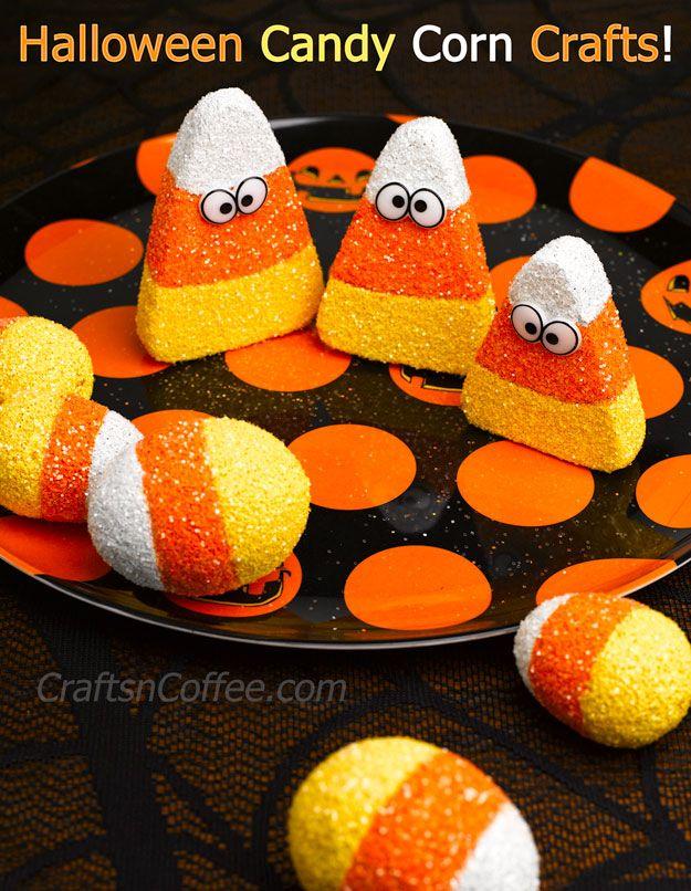 Fun Halloween craft for kids Glittered