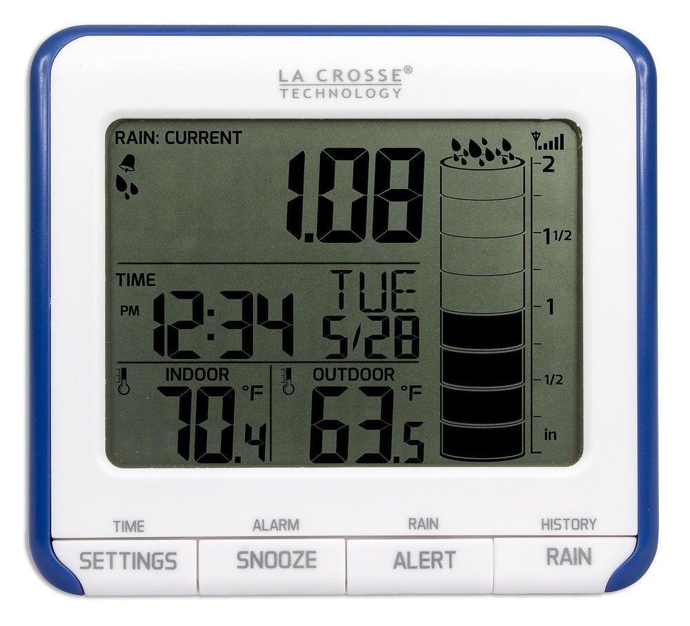 La Crosse Digital Wireless Rain Gauge with Indoor and Outdoor Temp Free US Ship #LacrosseTechnology