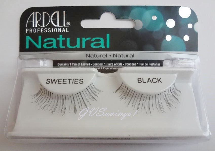 f10dbf24563 (Lot Of 4) Ardell Natural Sweeties False Eyelashes Fake Lashes Invisibands  Black