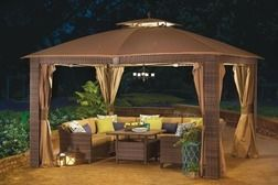 Wilson Fisher 10 X 12 Sonoma Gazebo From Big Lots 499 99 Backyard Gazebo Big Lots Patio Furniture Gazebo