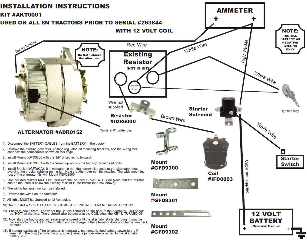 medium resolution of  wire alternator diagram ford tractors