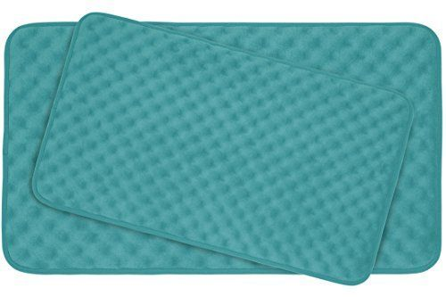 Bounce Comfort Extra Thick 20mm Memory Foam Bath Mat Set Massage Plush 2 Piece Set With Bouncecomfort Technol Memory Foam Bath Mats Bath Mat Sets Memory Foam