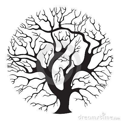 Tree Circle Crafting Trees Tree Art Tree Illustration Drawings