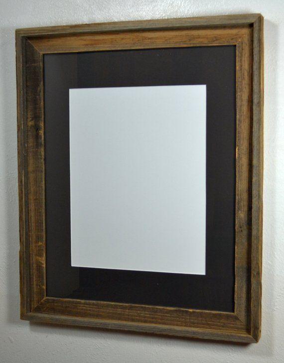 16x20 Wooden Picture Frame 11x14 Black Mat 20 Mat Colors Wooden Picture Frames Wooden Picture Wood Poster Frames