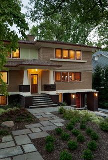 Prairie Style Split Level Exterior House Renovation