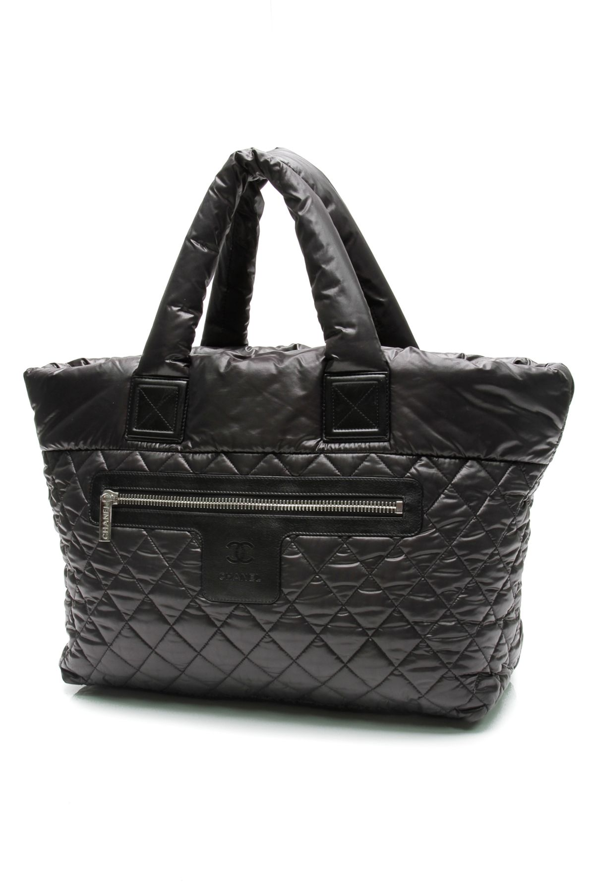 a963658a6f1a Chanel Black Quilted Nylon Coco Cocoon Tote Bag